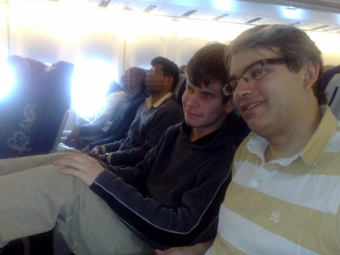 [Photo] Gab et Dom bien installés dans l'avion