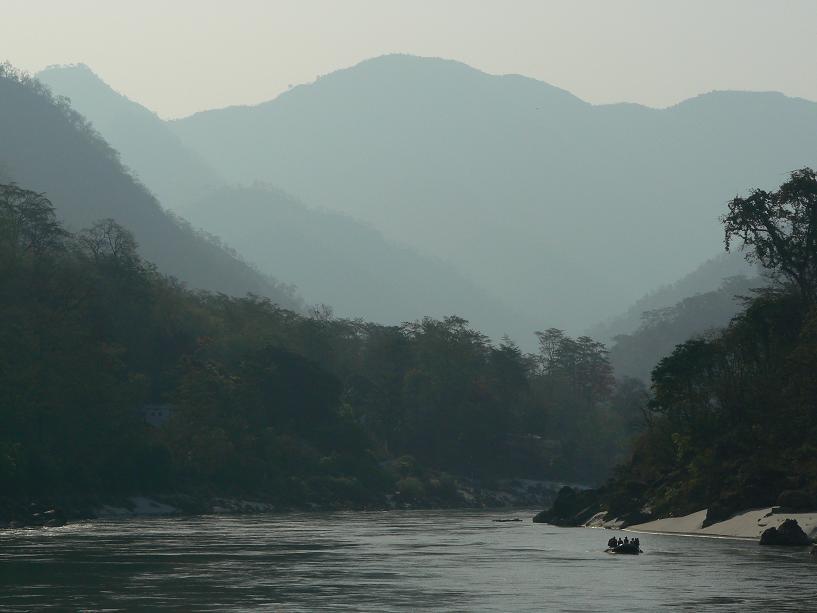 Ganga depuis l'hôtel