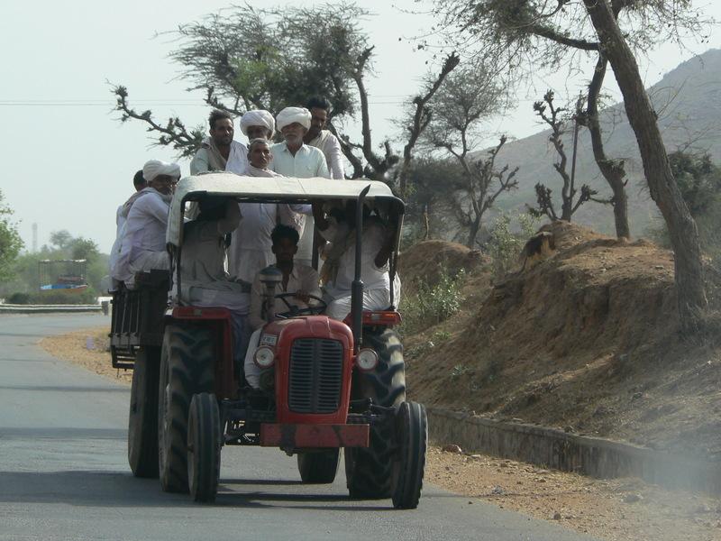 La route: et en tracteur?