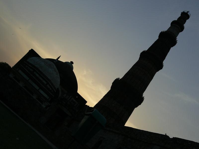 Coucher de soleil sur Qutub Minar